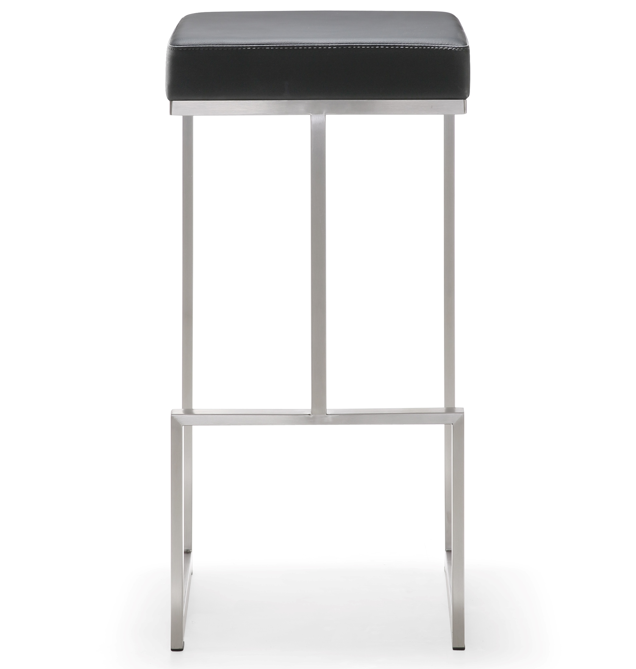 Wondrous Ferrara Black Stainless Steel Barstool Set Of 2 Ncnpc Chair Design For Home Ncnpcorg